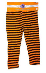 Infant pumpkin strip leggings