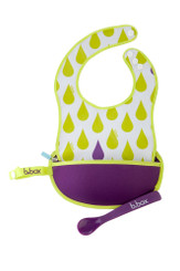 B.Box Essential Travel Bib in Splish Splash.