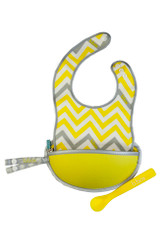 B.Box Essential Travel Bib in Mellow Lellow.