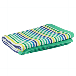 D.Lux Baby Rainbow Knit Bassinet Blanket in Sea.