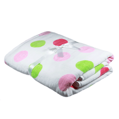 Pink Gelati Spot Baby Bath Towel from Emotion and Kids