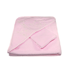 Emotion and Kids Hooded Bath Towel in Pink