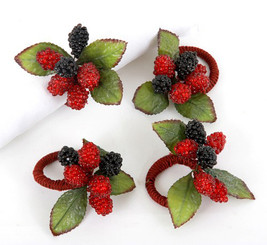 Christmas Raspberry Napkin Holders