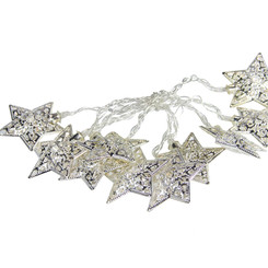 Christmas Star Metal Garland