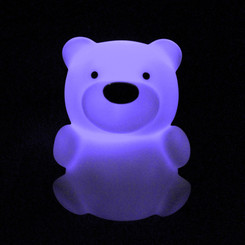 Zooglo Rechargeable LED Night Light - Bear - Light on
