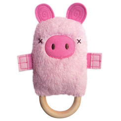 DINGaRING Teething Rattle - Patty Pig