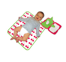 B.Box Nappy Wallet and Change Mat - Cherry Delight