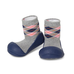 Attipas First Walker Shoe - Argyle Navy