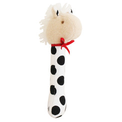 Alimrose - Horse Stick Rattle - Black Spot