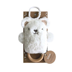 DINGaRING Teething Rattle - Byron Bear (White)