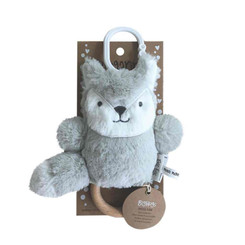 DINGaRING Teething Rattle - Ross Fox (Silver)
