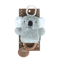 DINGaRING Teething Rattle - Kelly Koala (Grey)