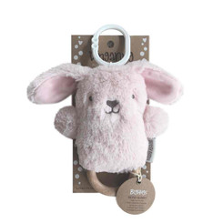 DINGaRING Teething Rattle - Betsy Bunny (Pink)