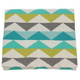 D)Lux Baby Ziggy 100% Cotton Knitted Cot Blanket - Sea