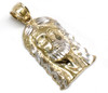 10K Gold Jesus Piece with Diamond Cuts - JS065