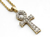 10K Gold 0.16CT Diamonds Ankh