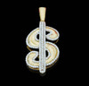 10K Gold 0.35CT Diamonds Dollar Sign Pendant