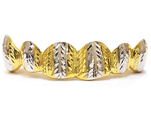 Gold Grill with Diamond Cuts - PG021