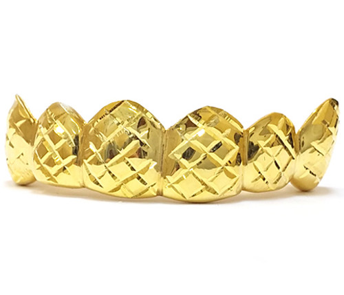 Gold Grill with Diamond Cuts - PG023