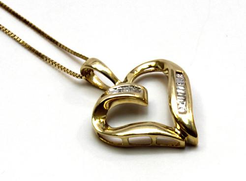 10K Gold 0.05CT Diamond Pendant