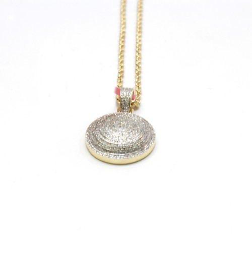 10K Gold 0.64 Ct Round Diamond Pendant