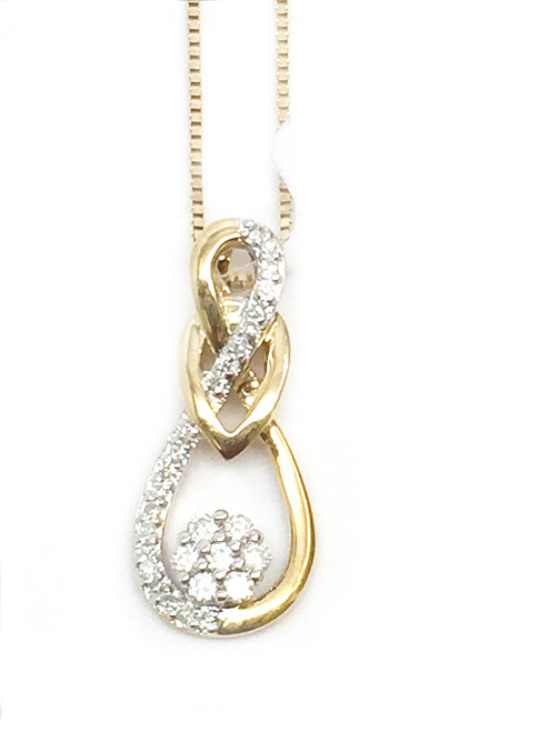 10K Gold 0.15CT Diamond Ladies Pendant