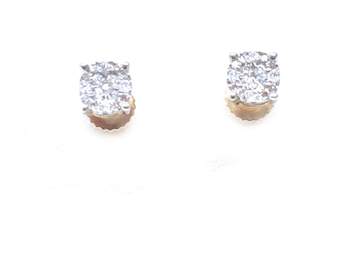 10K Gold 0.15CT Dimaond Earrings
