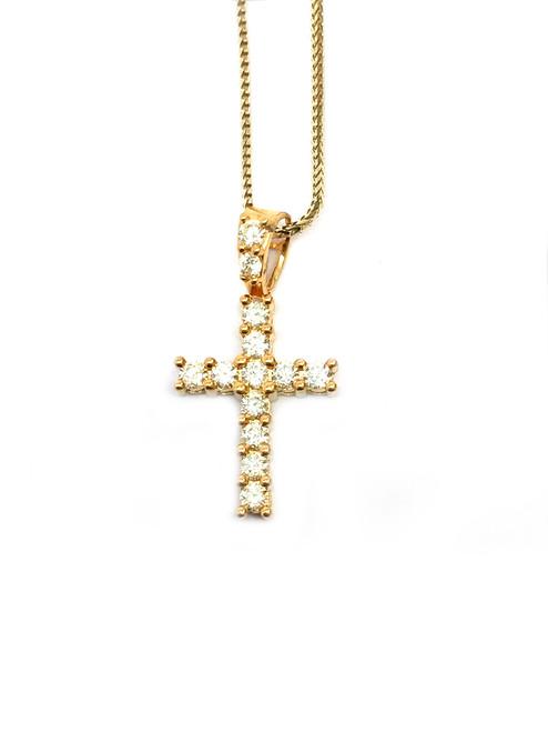 10K Gold 0.50CT Diamond Cross Pendant