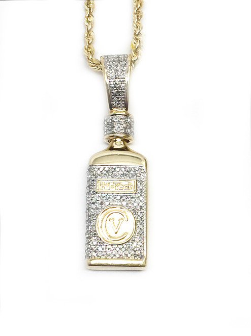 10K 0.54ct diamonds Hi tech Bottle Pendant