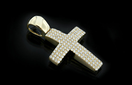 10K Gold 0.80CT Diamonds Cross