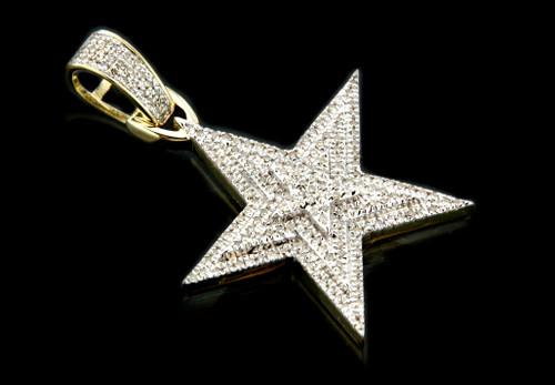10K Gold 0.38CT Diamonds Star Pendant