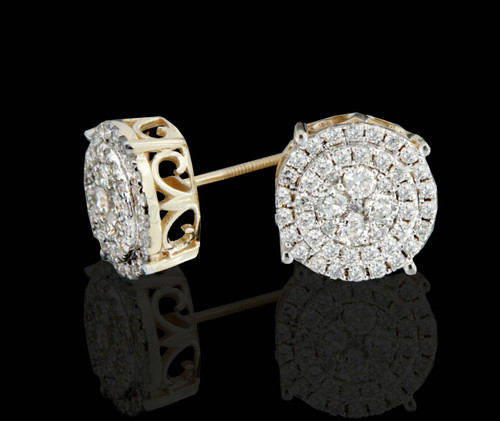 14K Gold 1.25CT Diamonds Earrings