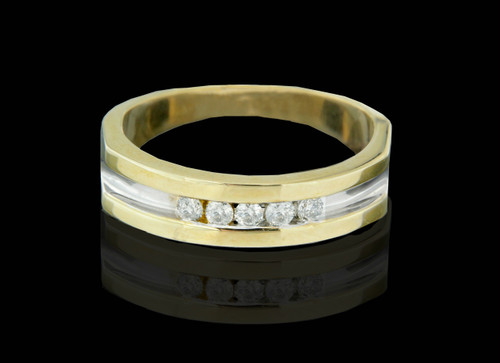 14K Gold 0.30CT Diamonds Men's Band