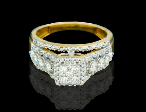 14K Gold 0.76CT Diamonds Ladies Engagement Ring