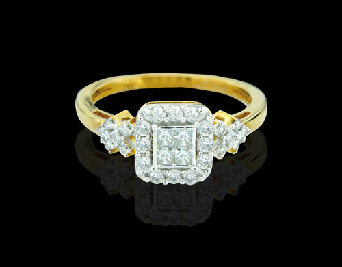 14K Gold 0.52CT Diamonds Ladies Engagement Ring