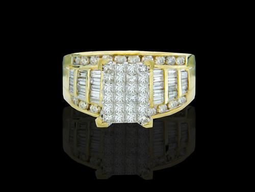 10K Gold 2.00CT Diamonds Ladies Engagement Ring