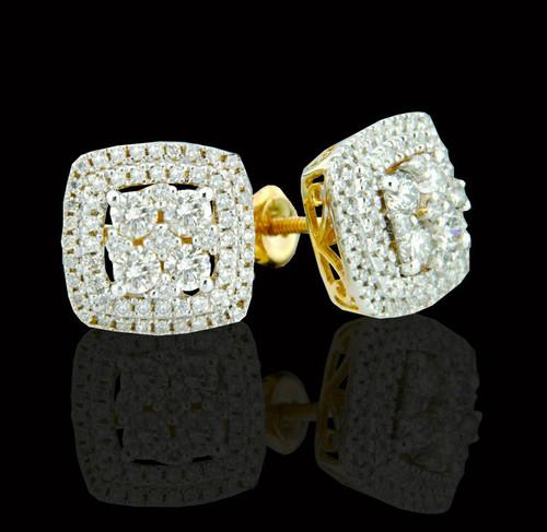14K Gold 1 CT Diamond Earrings