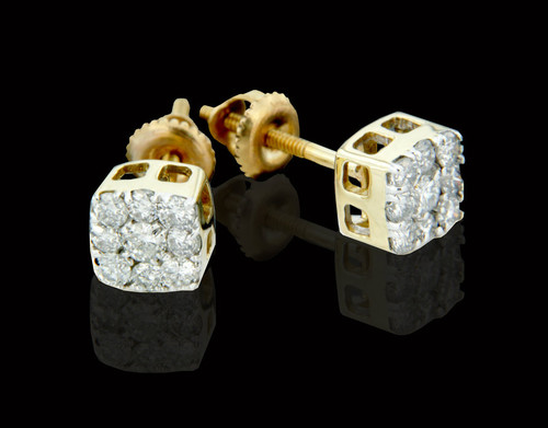 14K Gold 0.50CT Diamond Earrings