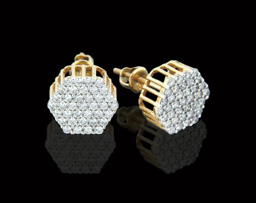 10K Gold 1.00CT Diamonds Earrings