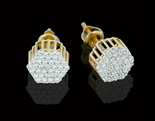 10K Gold 0.55CT Diamonds Earrings