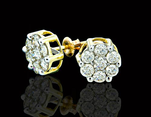 10K Gold 1.60CT Diamond Earrings