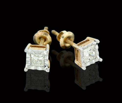 14K Gold 0.52CT Diamond Earrings