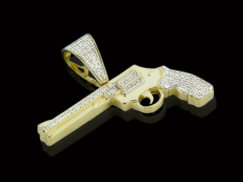 "10K Gold 0.20CT Diamonds ""Tamancha"" Pendant"