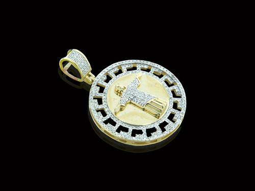 10K Gold 0.52CT Diamonds Jesus Medallion