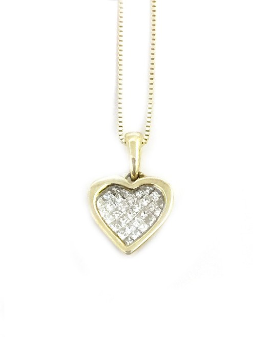 14K Gold 0.25ct diamonds Heart Pendant