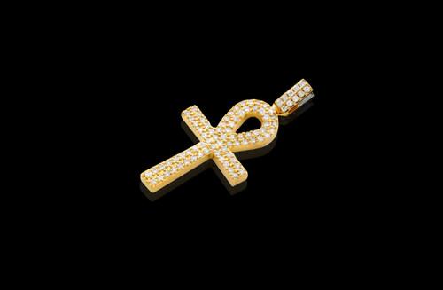 10K Gold 2.30T Diamonds Custom Made Cross Pendant