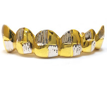 Gold Grill with Diamond Cuts - PG020