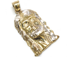 10K Gold Jesus Piece with Diamond Cuts - JS067