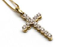 10K Gold 0.11CT Diamond Cross