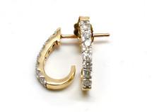 14K Gold 0.27CT Diamonds Hoop Earrings